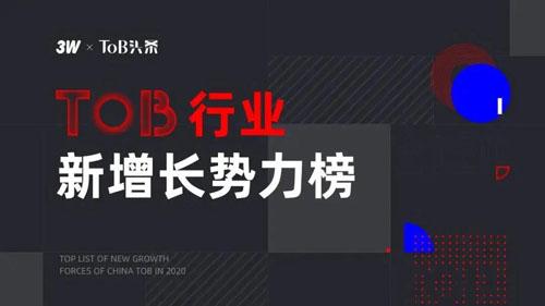 安华金和入选2020中国ToB行业新增长势力榜