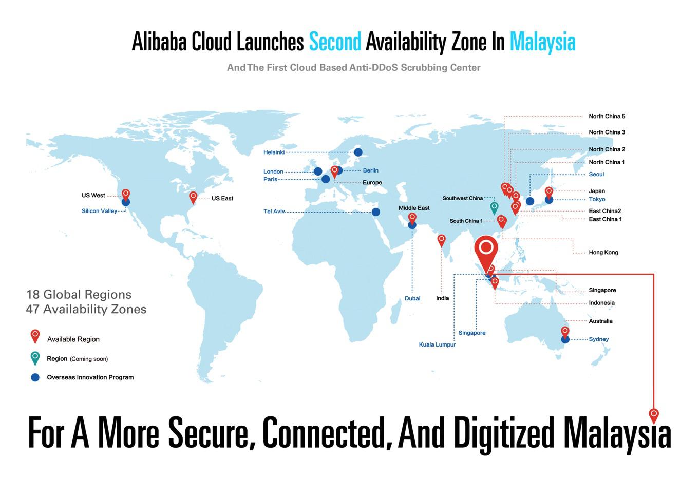 【企服观察】阿里云持续投资马来西亚,开放第二个可用区和第一个DDoS云清洗中心